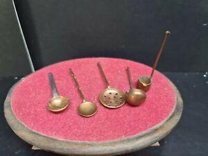 dolls house accessories artisan copper kitchen utensils  1.12th Y