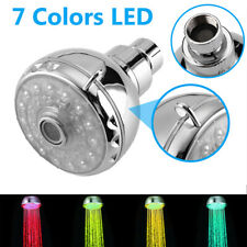 Rgb 7 Colorful Led Light Shower Head Water Bath Bathroom Filtration Shower