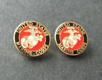 USMC US MARINES Small Set of Two 2 Collar Lapel Pin 1/2 inch Marine