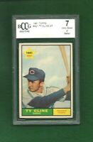 1961 TOPPS #421 TY CLINE INDIANS ROOKIE SP BCCG 7