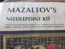 Mazaltov needlepoint kit 3098 Chinese Floral 'unopened'
