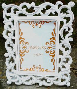 SHABBY Bilderrahmen opulente Ornamente Landhausstil - Norwegen Dekoration 26x21