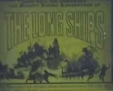 """The Long Ships"", Viking Adventure, Movie Preview Magic Lantern Glass Slide"