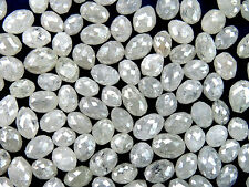 Natural Loose Diamond Ice Grey Long Drilling Egg Shape I3 Clarity 1.0 Ct Lot Q20