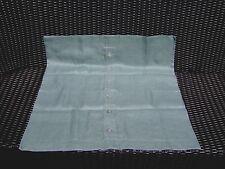 "Pottery Barn Aqua Woven Linen Euro Sham/Pillow Cover Button Front ~ 30"" SQUARE"