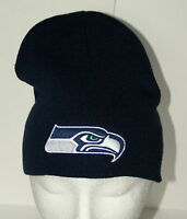 Seattle Seahawks Superbowl Team NFL Football Navy Knit Cap Hat New Tags