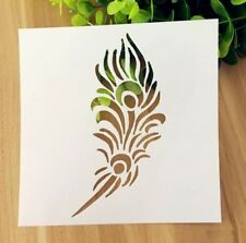 AU Stock Feather Flower Layering Stencil Template Scrapbooking Home Craft Decor