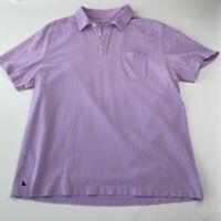 UNTUCKit Mens Polo Shirt Purple Pima Cotton Short Sleeve Pocket 3 Button XL