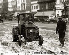 A Ford Tractor in the Snow - 1924 - Historic Photo Print