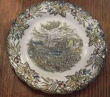 Set of 5 Ridgway Heritage Fish Market Toronto Dinner Plates