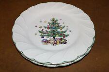 "2 Nikko Happy Holidays Christmas Tree 7 3/4"" Dessert Plates"