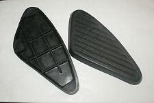 BSA C15..B25 A10 B31.BLACK PETROLTANK KNEE RUBBERS..FOR PEARDROP BADGE  MODELS
