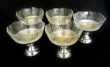 5 Vintage Macbeth Evans American Sweetheart Depression Glass Sherbet Cups 2 pcs