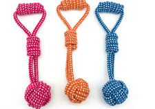 1pc Dog Toy Cotton Rope Ball Knot for Dog Toys Pet Playing toy