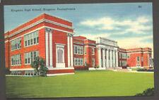 Kingston High School, Kingston, Pennsylvania - Linen Postcard
