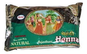Ayur Extra Rich Natural Dark Brown Henna 200gm, Hair dye powder
