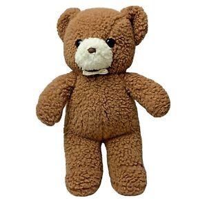 "Vintage 1988 Gund Babytime Nubby Teddy Bear Plush Stuffed Animal 12"" Brown"