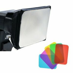 Opteka SB-110 Universal Softbox Diffuser with Color Gels for External Flash