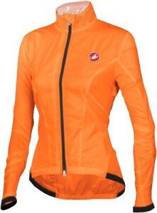 Castelli Leggera Women's Cycling Jacket Fluo Orange Size XL : SUPER LIGHT