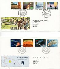 1986 Industry year to Christmas First Day Cover Year Set