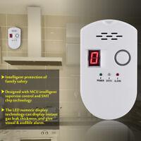 LCD LPG LNG Carbón Combustible Gas Fuego Fuga Seguridad Alarma Sensor Detector