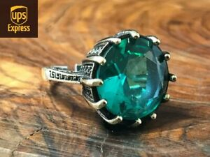 925 Sterling Silver Handmade Authentic Turquoise Turkish Ladies Ring Size 6-10