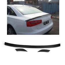 For Audi A6 C7 A6 L 2013 Facelift Carbon Fiber Rear Trunk Boot Spoiler Wing Lip