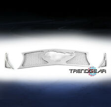 2010 2011 2012 FORD MUSTANG GT V8 FRONT MAIN UPPER MESH GRILLE GRILL CHROME 3PCS