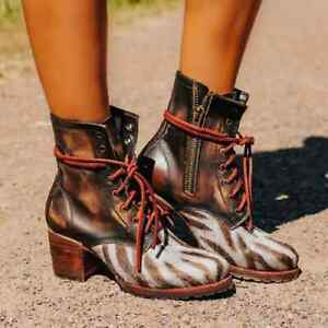 Freebird by Steven Cavalier Brown Multi Round Toe Leather  Boots Size 5 NEW $295