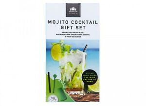 Mojito Cocktail Gift Set 8.5 cm Glasses Ice Crusher & Accessories