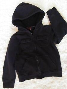 Tony Hawk Black Zip-Up Cargo Hoodie Boy's Size 7 EUC