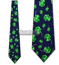 Irish Ties Clover Necktie Mens St Patricks Day Neck Tie Navy NWT
