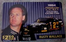 Rusty Wallace 1994 Race Car Driver collector phone  card, limited edition
