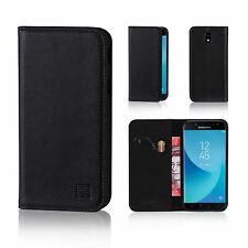 32nd Classic Series - Real Leather Book Wallet Case Cover for Samsung Galaxy J5