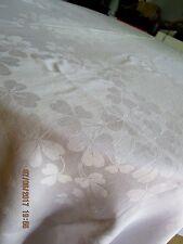 "Vintage Irish Linen Double Damask Tablecloth, Shamrocks, Millmark, 71"" x 104"""