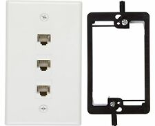 Buyer's Point 3 Port Cat6 Wall Plate