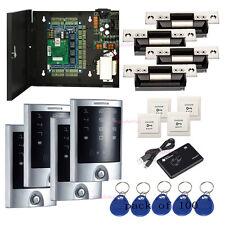 4 Door Access Control Kits Waterproof Metal Touch Keypad Reader Ansi Strike Lock