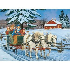 Bits and Pieces - 1000 Piece Jigsaw Puzzle - Family Sleigh Ride by Artist John S