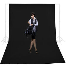 10x20Ft Photo Studio Black Screen Muslin Backdrop Video Chromakey Background