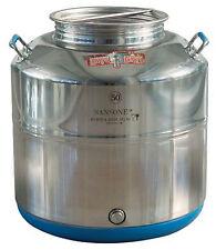 Contenitore fusto olio Inox 18/10 Sansone Europa saldato 50 lt made in Italy
