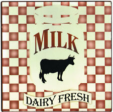 New Milk Dairy Fresh Cow Country Tin Sign