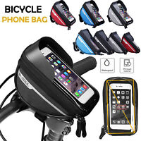 Waterproof Cycling Bicycle Bike Front Frame Pannier Tube Bag for Mobile Phone