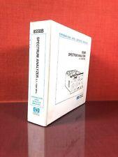 HP 8558B Spectrum Analyzer 0.1-1500MHz Operation And Service Manual #6B1921