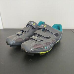 Louis Garneau Womens Multi-Airflex HRS-80 Cycling Shoes Grey/Lime US 8.5 EU 40