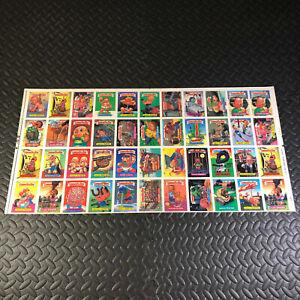 GARBAGE PAIL KIDS 10th SERIES 10 UNCUT SHEET TOPPS 1987 44 STICKER CARDS RARE!