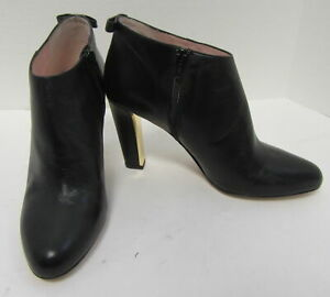 NEW KATE SPADE $398 Black Leather Netta Booties Size 9