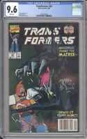 Marvel Comics TRANSFORMERS #65 CGC 9.6 NM (1990) White Pages