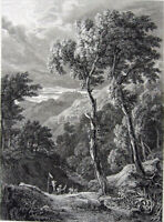 Greece, PELLANA LACONIA EUROTAS River Scene ~ 1826 Landscape Art Print Engraving