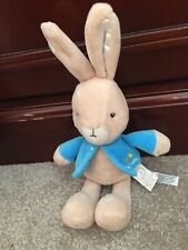 Beatrix Potter Petter Rabbit Plush 2016 Stuffed Bunny Animal 8 inch Blue Jacket