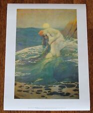 "Howard Pyle ""Mermaid"" 1981 Delaware Art Museum Vintage Original Poster"